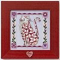 Scarlet Quilted Cat - Cross Stitch Kit