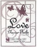 Love Never Fails - Cross Stitch Kit