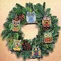 Owl Christmas Ornaments - Cross Stitch Kit