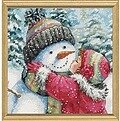 A Kiss for Snowman - Cross Stitch Kit
