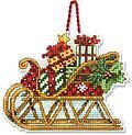 Sleigh Christmas Ornament - Cross Stitch Kit