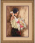 Woman With Bouquet - Cross Stitch Kit