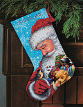 Santa And Toys Christmas Stocking - Needlepoint Kit