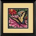 Butterfly on Zinnia - Needlepoint Kit