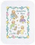 Someone New Baby Quilt Stamped Cross Stitch Kit