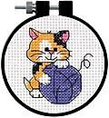 Cute Kitty Learn-A-Craft - Beginner Cross Stitch Kit