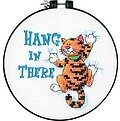 Hang In There Learn-A-Craft Beginner Stamped Cross Stitch