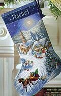 Sleigh Ride at Dusk Stocking - Cross Stitch Kit