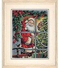 Candy Cane Santa - Cross Stitch Kit
