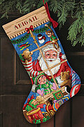 Santa's Toys Stocking - Cross Stitch Kit