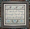 I Can Do All Things - Cross Stitch Pattern