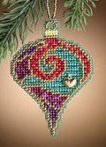 Garnet Spiral - Beaded Cross Stitch Kit