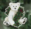 Holiday Polar Bear - Cross Stitch Kit