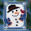 Invisible Snowman - Beaded Cross Stitch Kit