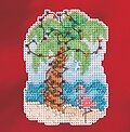 Christmas Palm - Beaded Cross Stitch Kit