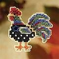 Provence Rooster - Beaded Cross Stitch Kit