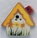 Sunflower Birdhouse Button