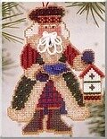 Bluebird Santa - Alpine Santas (beaded kit)