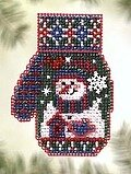 Snowman's Garden - Beaded Cross Stitch Kit