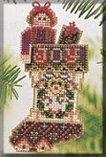 Joyful Stocking (beaded kit)