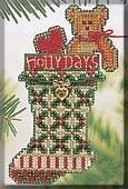 Holly Days Stocking - Cross Stitch Kit
