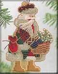 Mt Rainier Santa - Cross Stitch Kit