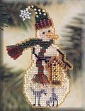 Birdhouse Snow Charmer - Cross Stitch Kit