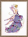 Lady Slipper Spring Garden Pixie - Cross Stitch Pattern