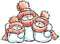 Snow Family - Rubber Stamps