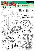 April Showers - Clear Stamps