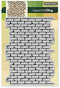 Brick Wall (Background) - Slapstick Cling Rubber Stamps