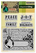Peace on Earth (Christmas) - Cling Rubber Stamps