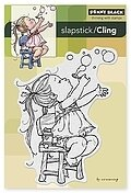 Bubble Girl - Slapstick Cling Stamps