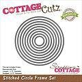 CottageCutz Stitched Circle Frame Set Die