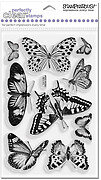 Butterflies - Stampendous Perfectly Clear Stamps