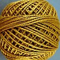 Valdani Floss 3Ply Balls Solid -  Deep Antique Gold