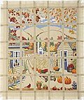Harvest View Afghan - Cross Stitch Pattern