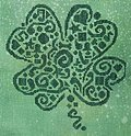 Tribal Shamrock - Cross Stitch Pattern